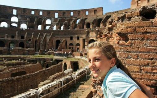 girl at colosseum - Getty