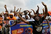Ouattara supporters outside of Abidjan. In Ivory Coast as elsewhere in Africa, spontaneous change in favour of younger, brasher leaders is a most unlikely scenario