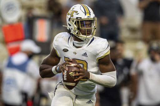 Sims powers Georgia Tech past fumble-prone Louisville, 46-27