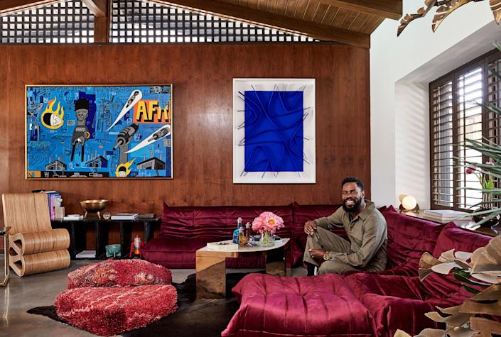 Actor Colman Domingo at home in L.A.