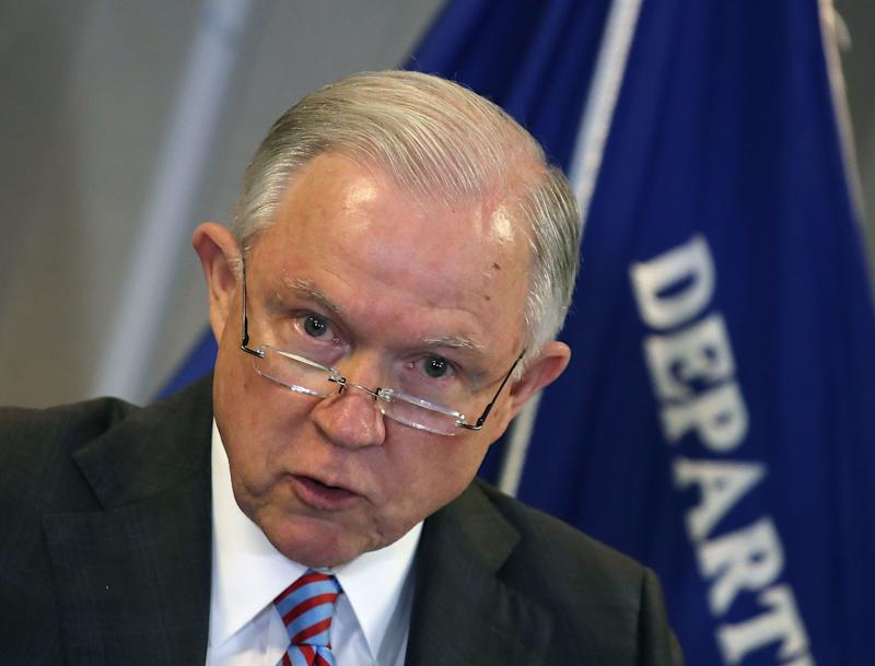 Attorney General Jeff Sessions delivers a speech on the asylum system at the Executive Office for Immigration Review.