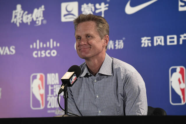 ' <span>This year, for me, is about pacing ourselves and keeping our edge,' Warriors coach Steve Kerr said.</span> (Getty Images)