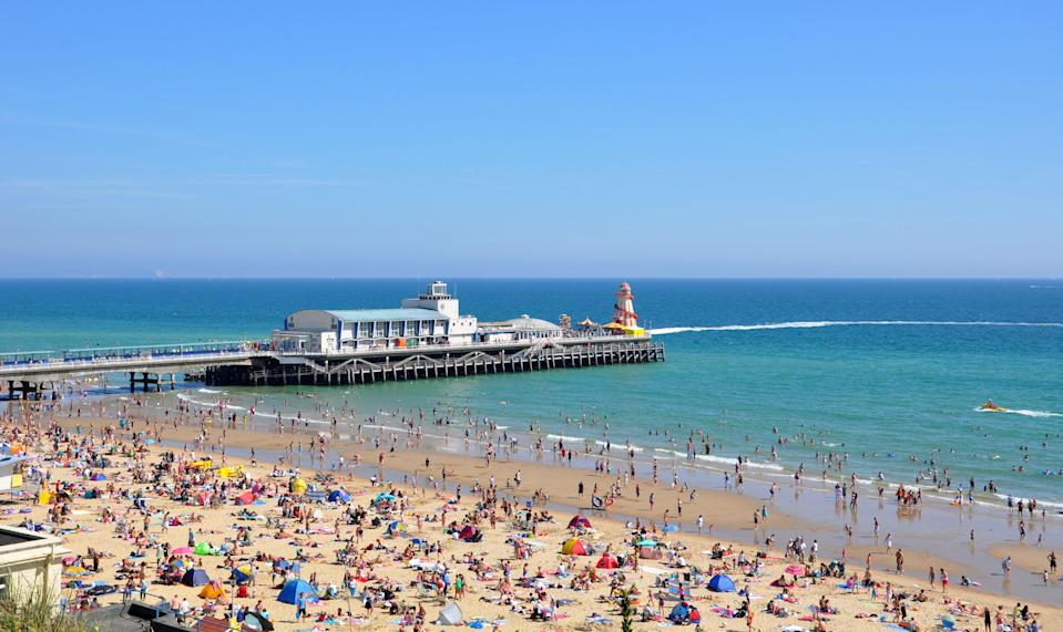 Bournemouth has been named the UK's best beach [Photo: Getty]