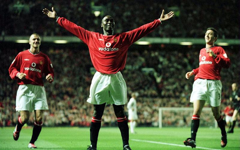 Andy Cole in his Man Utd playing days - Credit: Getty Images
