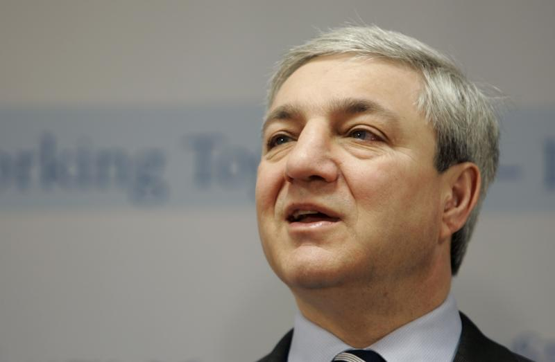 FILE -  In this March 7, 2007 file photo, Penn State University President Graham Spanier speaks during a news conference at the Penn State Milton S. Hershey Medical Center in Hershey, Pa. Penn State president Graham Spanier is the fifth highest-paid public college president in the country, a new survey found. The Chronicle of Higher Education report released Sunday night, April 3, 2011 found it cost Penn State more than $800,500 to employ Spanier. That figure includes annual base pay, deferred compensation and retirement contributions. (AP Photo/Carolyn Kaster, File)