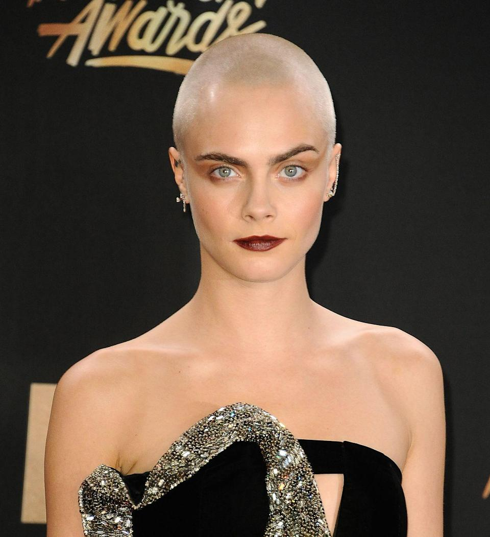 <p>Cara Delevingne shaved her head in 2020 for her role in Life In A Year. </p>