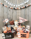 """<p>With siblings, you can have fun making coordinating spooky baskets with similar-but-not-matching items, like these <a href=""""https://go.redirectingat.com?id=74968X1596630&url=https%3A%2F%2Fwww.etsy.com%2Flisting%2F841020161%2Fghost-glasses-flag-printable-flag&sref=https%3A%2F%2Fwww.goodhousekeeping.com%2Fholidays%2Fhalloween-ideas%2Fg34288815%2Fspooky-basket-ideas%2F"""" rel=""""nofollow noopener"""" target=""""_blank"""" data-ylk=""""slk:Boo"""" class=""""link rapid-noclick-resp"""">Boo</a> and <a href=""""https://go.redirectingat.com?id=74968X1596630&url=https%3A%2F%2Fwww.etsy.com%2Flisting%2F823671808%2Fghouls-rule-flag-printable-flag&sref=https%3A%2F%2Fwww.goodhousekeeping.com%2Fholidays%2Fhalloween-ideas%2Fg34288815%2Fspooky-basket-ideas%2F"""" rel=""""nofollow noopener"""" target=""""_blank"""" data-ylk=""""slk:Ghouls Rule"""" class=""""link rapid-noclick-resp"""">Ghouls Rule</a> banners.</p><p><em><a href=""""https://www.instagram.com/p/CFsyOvGFcNZ/"""" rel=""""nofollow noopener"""" target=""""_blank"""" data-ylk=""""slk:See more @stephani_westberg »"""" class=""""link rapid-noclick-resp"""">See more @stephani_westberg »</a></em></p>"""