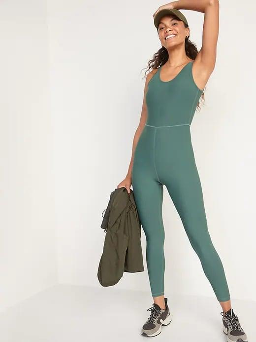 """<p>This soft-yet-compressive <span>Old Navy PowerSoft Performance Bodysuit</span> ($40, originally $50) is one fine option for a tank and leggings, and it <a href=""""http://www.popsugar.com/fashion/best-old-navy-clothes-for-women-2020-47410153#photo-48523634"""" class=""""link rapid-noclick-resp"""" rel=""""nofollow noopener"""" target=""""_blank"""" data-ylk=""""slk:stays with you through all your moves"""">stays with you through all your moves</a>, too.</p>"""