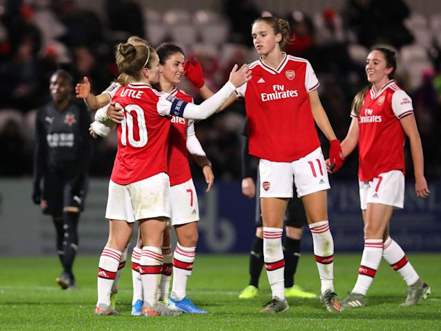 Arsenal Women have been drawn against PSG in the last eight of the Women's Champions League: Getty