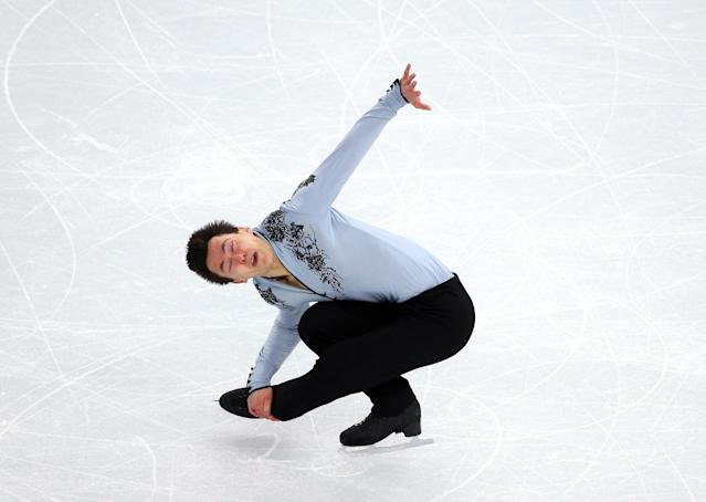 SOCHI, RUSSIA - FEBRUARY 14: Patrick Chan of Canada during the Figure Skating Men's Free Skating on day seven of the Sochi 2014 Winter Olympics at Iceberg Skating Palace on February 14, 2014 in Sochi, Russia. (Photo by Robert Cianflone/Getty Images)