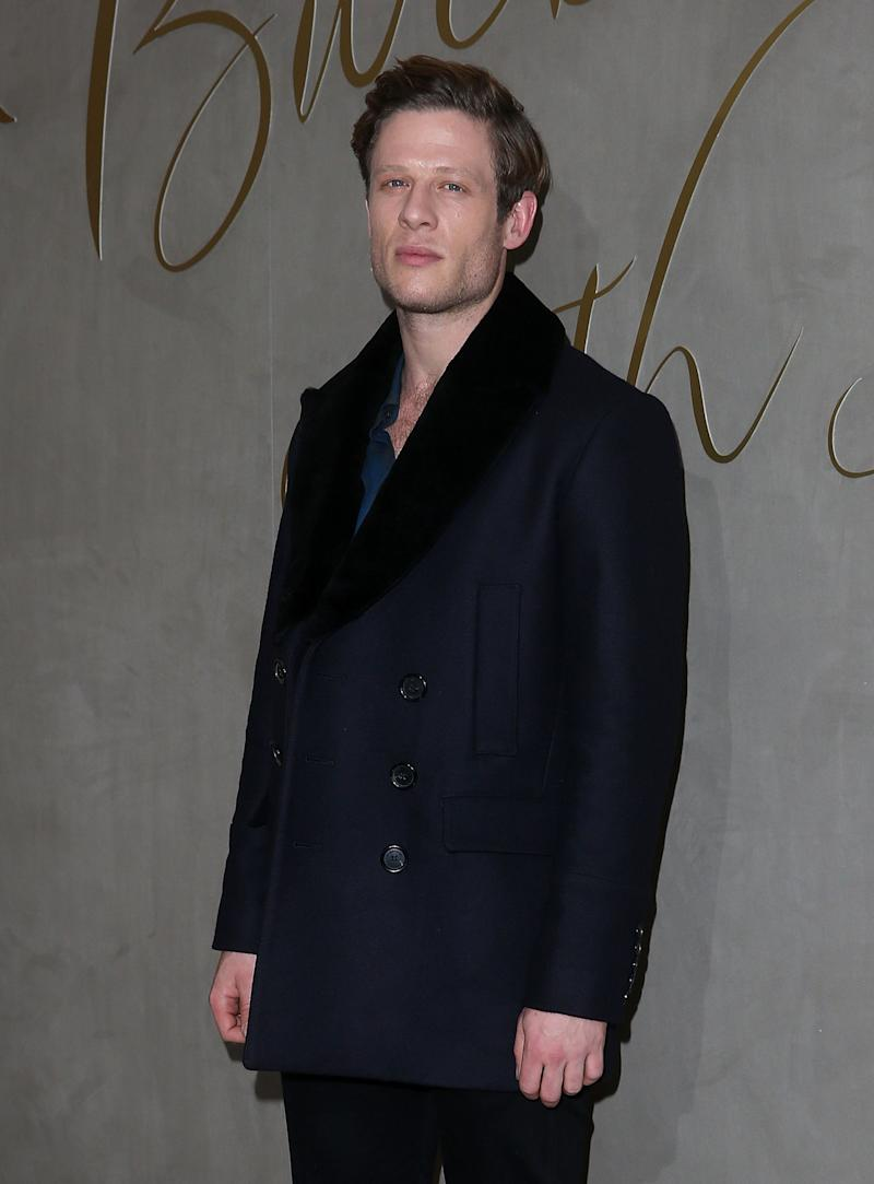 LONDON, ENGLAND - NOVEMBER 03: James Norton arrives for the premiere of the Burberry Festive Film at Burberry on November 3, 2015 in London, England. (Photo by Danny Martindale/WireImage)