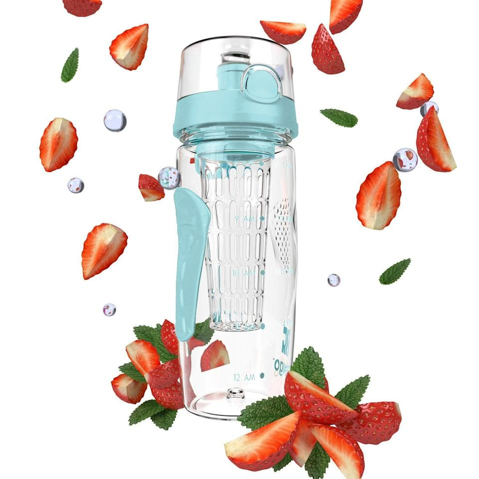 <p>If drinking plain old water is a struggle for you, the <span>Bevgo Infuser Water Bottle</span> ($16) allows you to add your favorite fruits for flavor and even comes with a detachable ice attachment. It also features a hydration timeline tracker to remind you to fill up throughout the day.</p>