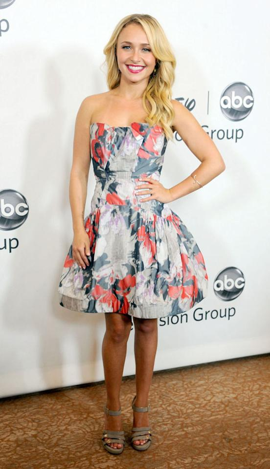 "Hayden Panettiere (""Nashville"") arrives at the Disney/ABC Television Group Summer 2012 Press Tour Party at The  Beverly Hilton Hotel on July 27, 2012 in Beverly Hills, California."