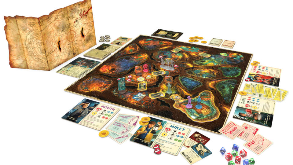 The Goonies board game out of the box