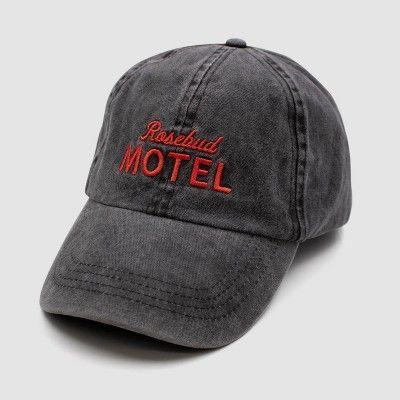 """<p><strong>Target</strong></p><p>target.com</p><p><strong>$12.99</strong></p><p><a href=""""https://www.target.com/p/schitt-39-s-creek-rosebud-motel-cap/-/A-80164407"""" rel=""""nofollow noopener"""" target=""""_blank"""" data-ylk=""""slk:Shop Now"""" class=""""link rapid-noclick-resp"""">Shop Now</a></p><p>This distressed hat is good for the fan that likes to keep it lowkey. Also, you can grab it at Target so it's like... super accessible for last-minute gift shopping. Not that you'd ever put anything off. </p>"""