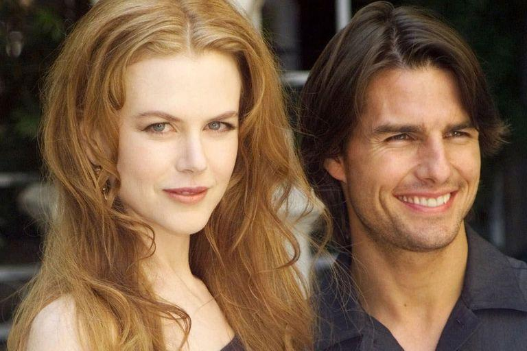 RFILE--Actors Nicole Kidman and her husband Tom Cruise smile during a photocall in Paris in this Sept. 2, 1999, file photo. The 11-year marriage of Cruise and Kidman is on the rocks.