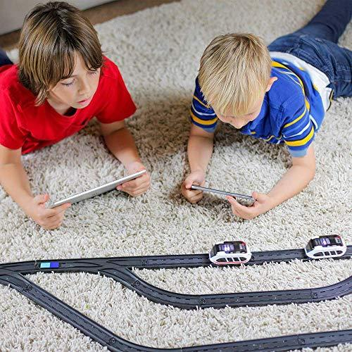 intelino J-1 Smart Train Starter Set - Works Screen-Free and App-Connected - Robot Toy Train That Teaches Coding Through Play - Wooden Train Set Compatible - Ages 3+ (Amazon / Amazon)