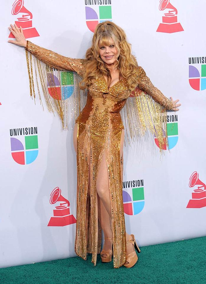"""Charo at the Latin Grammys. 'nuff said. Denise Truscello/<a href=""""http://www.wireimage.com"""" target=""""new"""">WireImage.com</a> - November 11, 2010"""