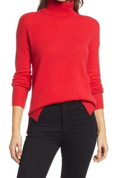 <p><span>Cashmere Turtleneck Sweater</span> ($49, originally $98)</p>