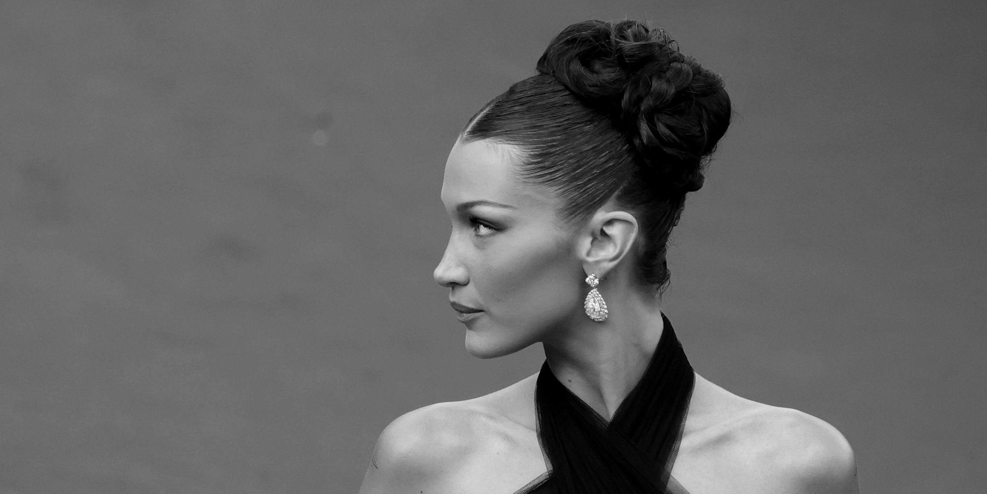 Bella Hadid wears a vintage gown first seen on Naomi Campbell in 2002