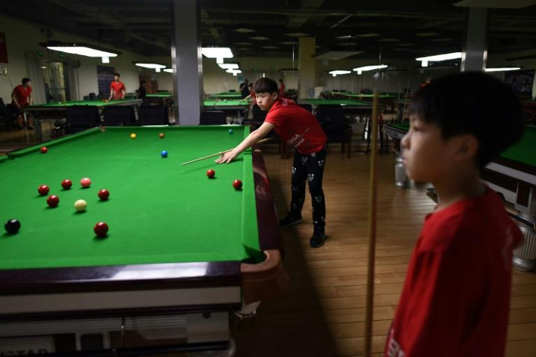 The snooker academy's 24 students hail from across China and are foregoing traditional schooling