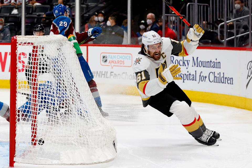 Mark Stone's overtime goal for Vegas in Game 5 changed the outlook of the NHL season. (Photo by Justin Edmonds/Getty Images)