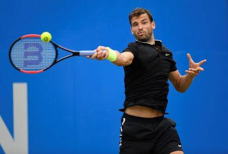 Tennis - Aegon Championships - Queen's Club, London, Britain - June 23, 2017   Bulgaria's Grigor Dimitrov in action during his quarter final match against Russia's Daniil Medvedev   Action Images via Reuters/Tony O'Brien