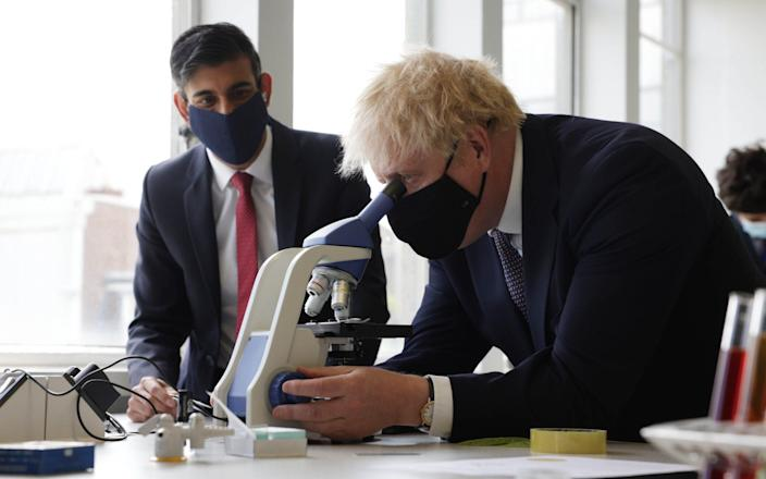 Boris Johnson doing his bit for science - Getty