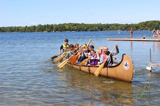 Children paddling at Camp Otterdale in this file photo. Overnight camps in Ontario are already preparing to welcome back campers after last summer's shutdown because of the pandemic, even though the province has yet to give them the green light. (Submitted by Sherry Crummy - image credit)