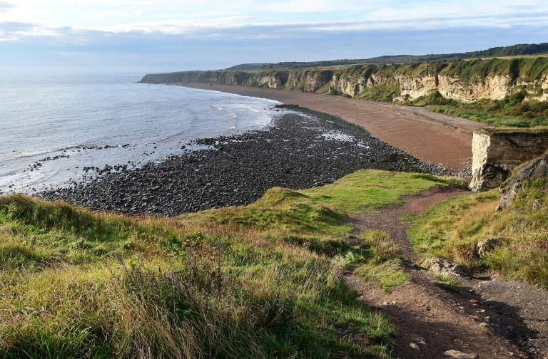 Waste from the colliery was tipped directly onto Seaham's beach until its closure in 1991 (AFP/PAUL ELLIS)
