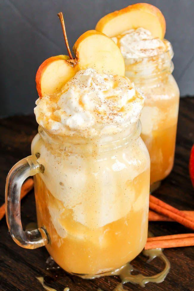 """<p>With whipped cream and fresh apple slices, this sweet drink doubles as a yummy fall dessert. <br></p><p><em><a href=""""https://domesticallyblissful.com/apple-cider-floats/"""" rel=""""nofollow noopener"""" target=""""_blank"""" data-ylk=""""slk:Get the recipe from Domestically Blissful »"""" class=""""link rapid-noclick-resp"""">Get the recipe from Domestically Blissful »</a></em></p><p><strong>RELATED:</strong> <a href=""""https://www.goodhousekeeping.com/food-recipes/dessert/g28089407/easy-fall-desserts/"""" rel=""""nofollow noopener"""" target=""""_blank"""" data-ylk=""""slk:60 Easy Fall Desserts That'll Wow Your Dinner Guests"""" class=""""link rapid-noclick-resp"""">60 Easy Fall Desserts That'll Wow Your Dinner Guests</a></p>"""