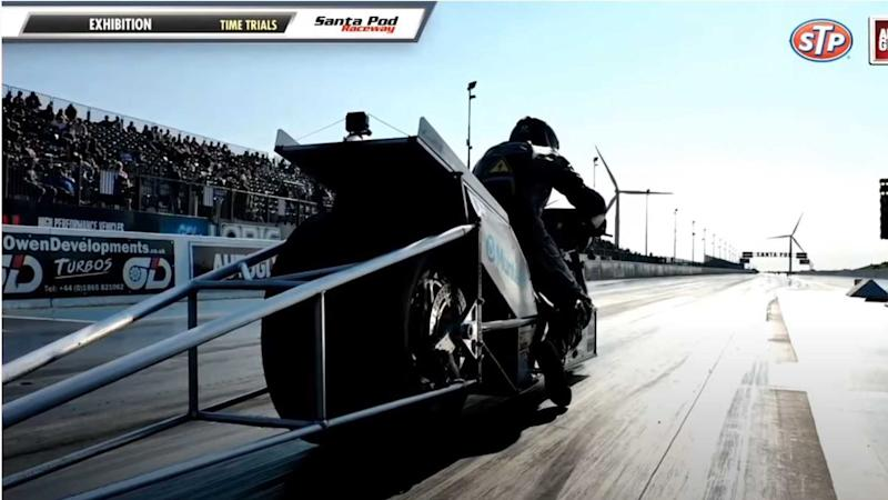 electric motorcycle breaks record