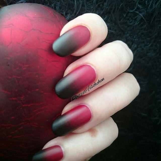 """<p>If you prefer <a href=""""https://www.goodhousekeeping.com/beauty/nails/g3336/matte-nails/"""" rel=""""nofollow noopener"""" target=""""_blank"""" data-ylk=""""slk:mysterious mattes"""" class=""""link rapid-noclick-resp"""">mysterious mattes</a> to glossy finishes, this black and red ombre mani is right at your fingertips.</p><p><a class=""""link rapid-noclick-resp"""" href=""""https://www.amazon.com/OPI-Nail-Lacquer-Coat-Matte/dp/B0001435D4/ref=sr_1_1_s_it?tag=syn-yahoo-20&ascsubtag=%5Bartid%7C10055.g.1421%5Bsrc%7Cyahoo-us"""" rel=""""nofollow noopener"""" target=""""_blank"""" data-ylk=""""slk:SHOP MATTE TOP COAT"""">SHOP MATTE TOP COAT</a></p><p><a href=""""https://www.instagram.com/p/BGRxmIeR0NI/&hidecaption=true"""" rel=""""nofollow noopener"""" target=""""_blank"""" data-ylk=""""slk:See the original post on Instagram"""" class=""""link rapid-noclick-resp"""">See the original post on Instagram</a></p>"""