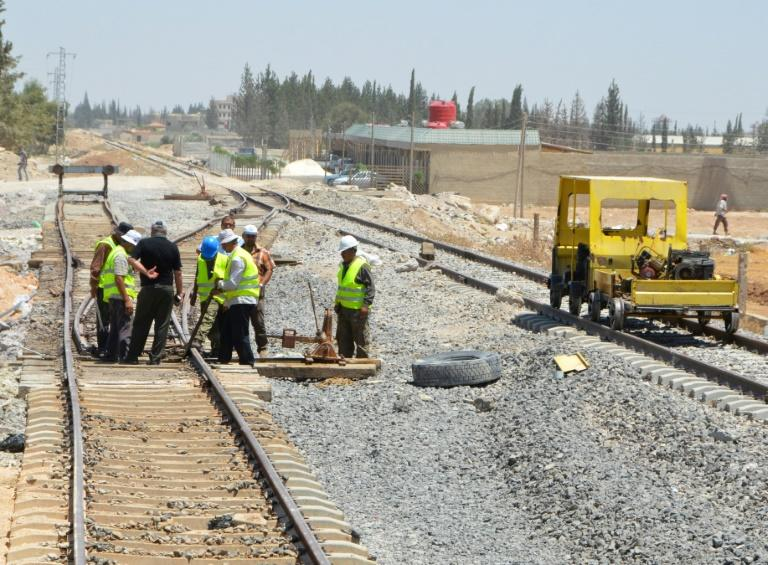 The authorities aim to have most lines back up and running by the end of the year, says Syrian Transport Minister Ali Hammud