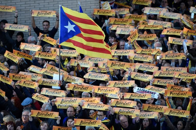 Independence supporters have held huge protests in Catalonia in recent weeks - but polls suggest they may not win an overall majority in the December 21 ballot