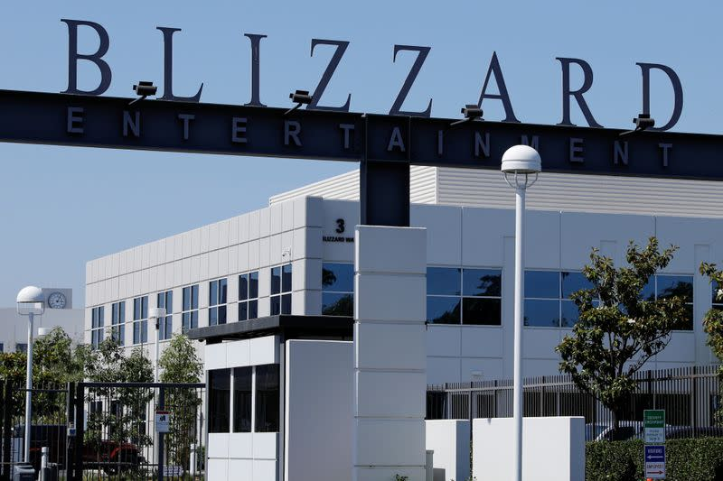 FILE PHOTO: The entrance to the Activision Blizzard Inc. campus is shown in Irvine, California