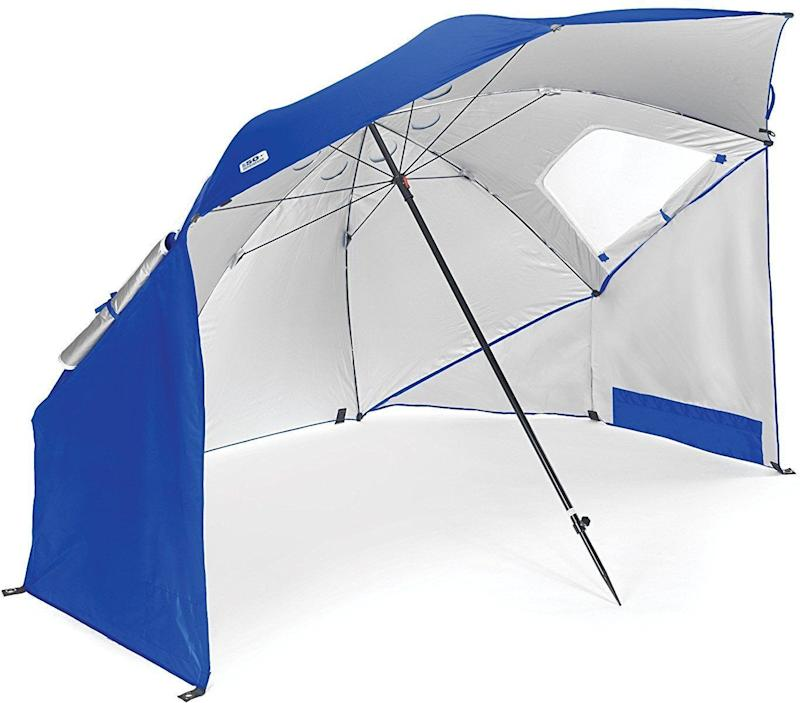 The Sport-Brella protects skin from both UVA and UVB rays (Photo: Amazon)