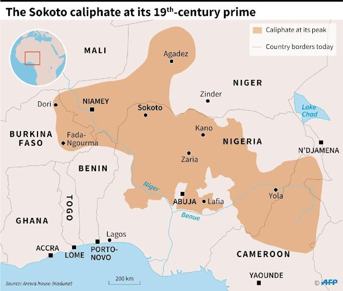 The Sokoto caliphate at its 19th-century prime (AFP Photo/Sophie RAMIS)