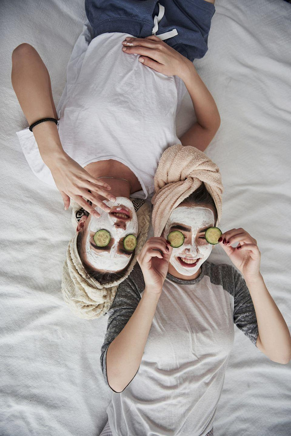 """<p>Enjoy a spa day built for your budget by throwing a pampering fest right in your home. Break out the face masks, bubble bath, and prosecco for a day dedicated to forgetting all your worries.</p><p><a class=""""link rapid-noclick-resp"""" href=""""https://www.amazon.com/Seven-Apparel-Collection-Herringbone-Textured/dp/B008I25J7G/?tag=syn-yahoo-20&ascsubtag=%5Bartid%7C10050.g.805%5Bsrc%7Cyahoo-us"""" rel=""""nofollow noopener"""" target=""""_blank"""" data-ylk=""""slk:SHOP BATHROBES"""">SHOP BATHROBES</a></p>"""