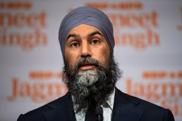 NDP Leader Jagmeet Singh takes part in a post-election news conference. Singh outlined his priorities for the new Parliament Thursday, calling on the Liberal minority government to commit to a range of measures on the COVID-19 pandemic. (Darryl Dyck/Canadian Press - image credit)