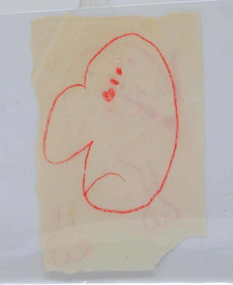 John Lennon's playful drawing is up for sale. (Photo: GWS Auctions)