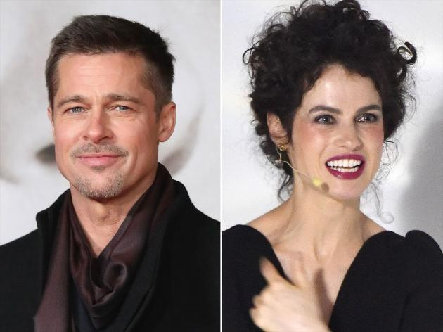 Brad Pitt and his new lady-love, Neri Oxman who bears an uncanny resemblance to his second wife, Angelina Jolie. Source: Getty