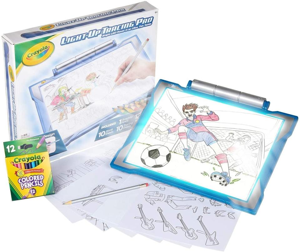 <p>They can take this <span>Crayola Light-Up Tracing Pad</span> ($23, originally $26) everywhere and create their own art. It even has a light-up feature so they can use it at night or outside.</p>