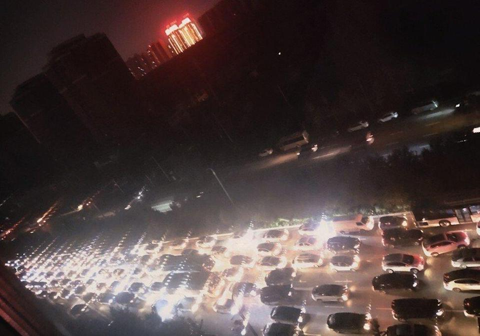 Shenyang city in China's Liaoning province is one the areas affected by power rationing. Photo: Weibo