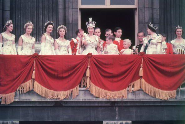 """<p>In 1953, Queen Elizabeth's coronation in Westminster Abbey was the <a href=""""http://bbc.com/historyofthebbc/anniversaries/june/coronation-of-queen-elizabeth-ii"""" rel=""""nofollow noopener"""" target=""""_blank"""" data-ylk=""""slk:first to air on television"""" class=""""link rapid-noclick-resp"""">first to air on television</a>. The historic moment was watched by over 27 million people around the world.</p>"""
