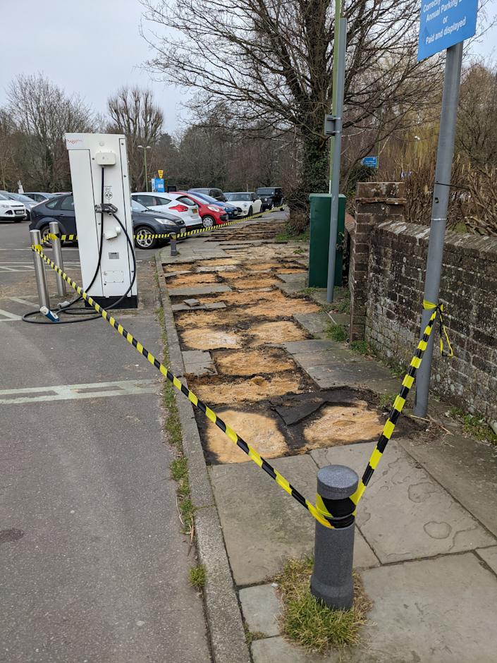 Shocked villagers woke up to find 50 slabs had been taken. (SWNS)