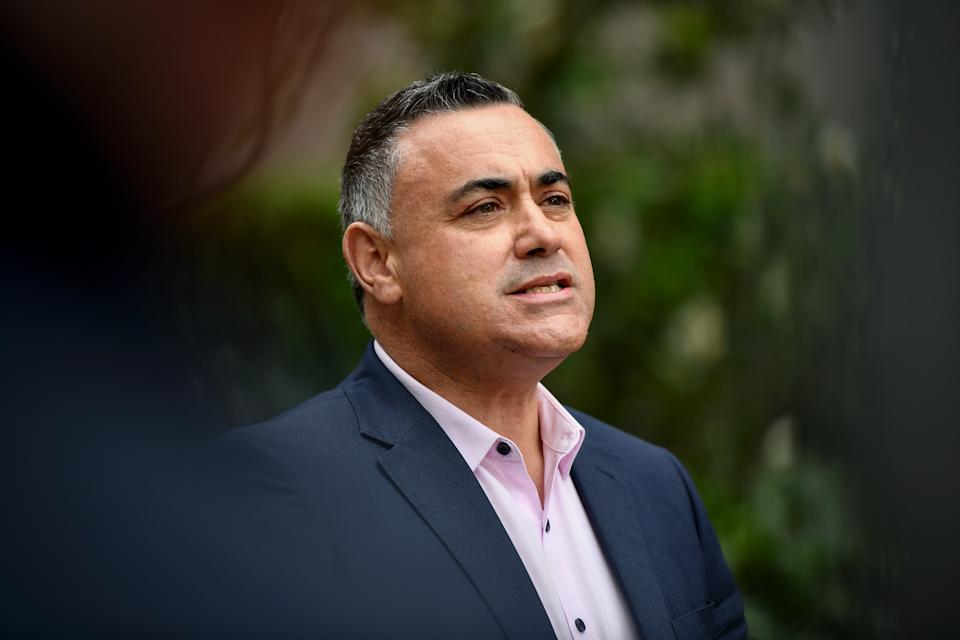 NSW Deputy Premier John Barilaro announced the state has a date which will allow for gyms and fitness centres to reopen, along with tattoo studios. Source: AAP