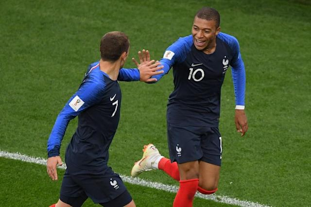 Kylian Mbappe became France's youngest ever World Cup goalscorer to send his team into the last 16 (AFP Photo/JORGE GUERRERO)