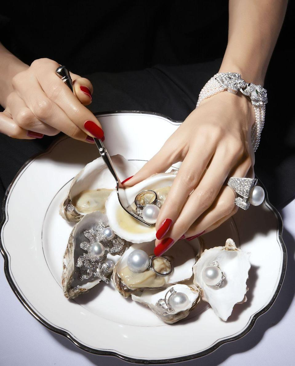<p>Oysters are an aphrodisiac, but what really gets our hearts racing are the pearls that are produced in their shells over time. From those that are natural to those that are cultured to even the imitations, these gems have been revered throughout the centuries. They've been worn by royalty, society swans, and, lately, Harry Styles. </p><p>Over the last decade, pearls have evolved past their prim-and-proper reputation. No longer are pearls relegated to a common strand. They now can be glamorous, punk, or, in the case of 2021, super ornate. Anita Ko, for example, surrounded a single pearl with pavé diamonds on an 18-karat gold, shell-shaped setting. Chanel created a brooch of pearls in varying sizes, dangling from chains made of gold, glass, and crystals. And Sophie Bille Brahe sourced two massive Baroque pearls and attached them to smaller round ones fashioned into daisies. </p><p>These aren't your grandmother's pearls. In fact, they haven't been for quite some time. So if you've been slow to the shift, it's high time you take a bite out of this prevailing trend. </p>