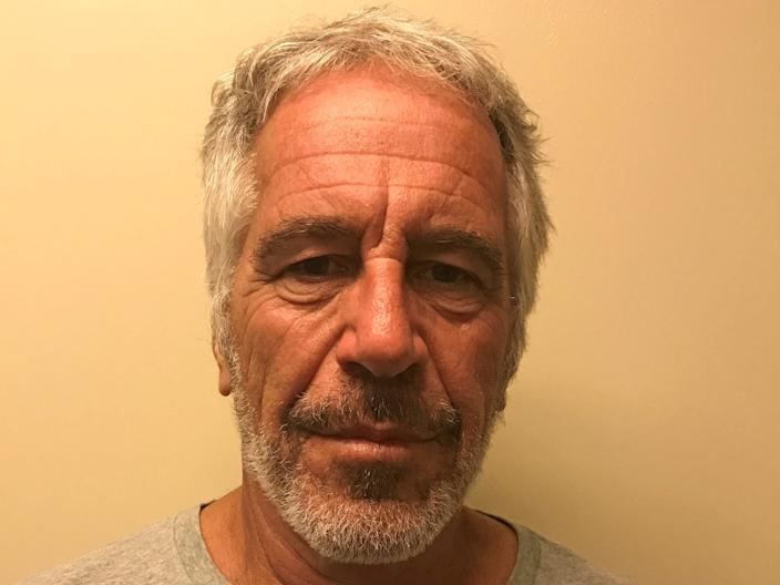 FILE PHOTO: U.S. financier Jeffrey Epstein appears in a photograph taken for the New York State Division of Criminal Justice Services' sex offender registry March 28, 2017 and obtained by Reuters July 10, 2019.  New York State Division of Criminal Justice Services/Handout via REUTERS/File Photo